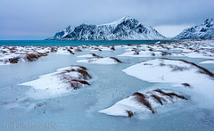Vlakstad Frozen Pond (Panorama Paul) Tags: cold ice norway reine lofotenislands nikkorlenses nikfilters nikond800 wwwpaulbruinscoza paulbruinsphotography vlakstadbeach
