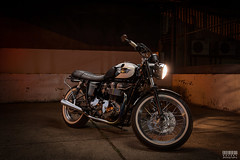 A Light Painting Triumph (davidgevert) Tags: longexposure lightpainting composite triumph motorcycle vehicle d800 triumphbonneville nikon2470mmf28 nikond800 davidgevert gevertphotography