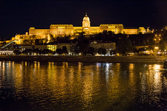 Buda Palace (Erik Strahm) Tags: reflection castle night river hungary hill budapest royal palace hu castlehill royalpalace europe2015