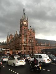 St Pancras Hotel, Kings Cross, London (PaChambers) Tags: city uk england sky urban london station st architecture hotel cross eurostar britain capital railway trains kings gb april pancras eastmidlands 2016