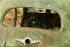 The End of the Road (tvdflickr) Tags: white art cars abandoned georgia junk decay vehicles classics junkyard oldcarcity whitegeorgia