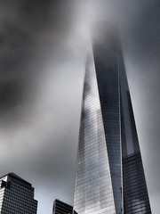 One World Observatory (abhishta) Tags: street city nyc fog architecture landscape cloudy wtc hdr