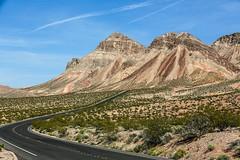 Scenic Drive (wyojones) Tags: road mountains highway rocks desert beds nevada hills geology np limestones sedimentaryrocks shales northshoreroad dippingstrata nationalparksystem wyojones lakemeadnationalrcreationarea
