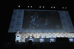 Damian Holbrook. Ciara Rene, Brandon Routh, Caity Lotz, Franz Drameh & Marc Guggenheim (Gage Skidmore) Tags: california los angeles brandon center renee franz convention marc ciara legends guggenheim tomorrow caity routh wondercon 2016 lotz drameh