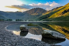 Sunrise at Buttermere Cumbria Lake District United Kingdom (nickreed5) Tags: greatbritain england mist lake water stone sunrise landscape dawn unitedkingdom lakedistrict cumbria buttermere