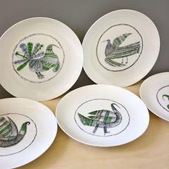 The Birds. (Kultur*) Tags: abstract kitchen birds spain modernism spanish dining plates serving midcentury madeinspain bidasoa