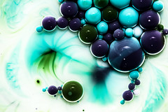 Better Photography Through Chemistry - 25 (MorboKat) Tags: blue white abstract color colour detail macro green texture colors ball intense colorful colours purple bright teal violet bubbles chemistry round bubble planet swirl colourful trippy liquid chemical reaction liquidart