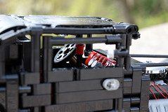 Hot rod - Black coupe (sm 01) Tags: black car ir leaf spring model lego suspension technic hotrod rc motorized pf