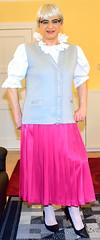 Ingrid021725 (ingrid_bach61) Tags: skirt blouse mature button waistcoat pleated ruffled weste faltenrock rschenbluse durchgeknpft