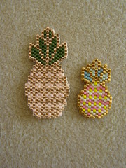 Pineapples (Lea et le chat Malo) Tags: beads miyuki beading delicas