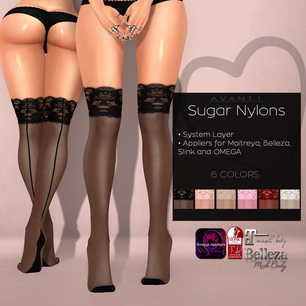 ea7592a02 Sugar Nylons   Avanti Mainstore (Intoxicate   Second Life) Tags  life new  sexy