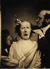 French neurologist Guillaume Duchenne de Boulogne triggers the expression of 'terror' on a subject through electrical stimulation the mimetic muscles, 1862 [902x1248] #HistoryPorn #history #retro http://ift.tt/23NEVsv (Histolines) Tags: history muscles de french boulogne expression retro terror timeline subject through guillaume 1862 electrical mimetic neurologist stimulation vinatage triggers duchenne historyporn histolines 902x1248 httpifttt23nevsv