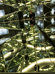 Deutsche Kinemathek (martinturner) Tags: cinema abstract berlin green television museum architecture reflections germany spiral curves mirrors german deutsche martinturner kinemathek