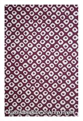 Purple Hikita (Kurokami) Tags: toronto ontario canada japan print asian japanese asia pattern pieces purple quilt panel sewing craft sew fabric cotton quilting faux kimono panels piece crafting shibori hikita