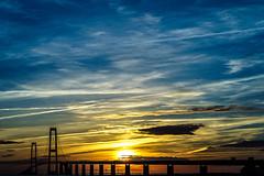 DSC07787 (Ronni Steen Hansen) Tags: bridge sunset zeiss sony 85mm fe f18 solnedgang batis storebltsbroen a7ii a7mk2