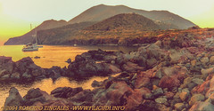 Filicudi Island - 2004 (CyboRoZ) Tags: sunset sea beach mediterranean mediterraneo tramonto mare eolie filicudi pecorini capograziano