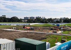 CBD & South East Light Rail - Update 11 April 2016 - Moore Park West - the calm before the storm! (john cowper) Tags: sydney tunnel newsouthwales alignment moorepark sydneylightrail cselr mooreparkwest batballoval
