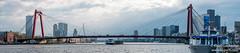 DSCF1323-Pano (Klaas / KJGuch.com) Tags: city panorama cloud netherlands clouds port boats harbor boat canal ship cityscape ships fujifilm willemsbrug erasmusbrug portofrotterdam xpro2 rotterdamrotterdamharbor
