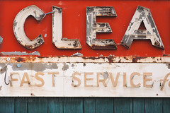 Fast Service (Philip Michael Photo) Tags: red sign rust colorado decay longmont letters cleaners erosion