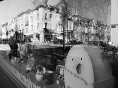 Shop window (seikinsou) Tags: brussels bw reflection window shop spring belgium belgique bruxelles