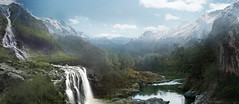Cascadas - Matte painting (Agustin C. Barranco) Tags: photoshop mattepainting photoshopcreativo