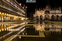 Piazza San Marco, Venezia (Albi Nikon) Tags: water san marco piazza acqua venezia viaggio notte sera riflesso tranquillit