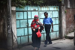 Dragons do exist ! (N A Y E E M) Tags: street morning portrait woman colors candid hijab pedestrians windshield niqab bangladesh burqa chittagong collegeroad
