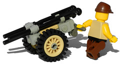 Recoilless Infantry Gun (caisson) (aillery) Tags: light field infantry spring portable gun lego military weapon cannon bazooka arrow shooter piece dart spigot caisson launcher antitank recoilless dieselpunk antiarmor