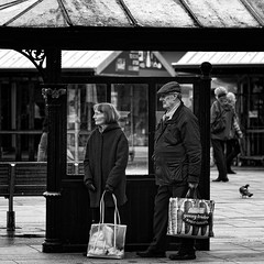 Bus Stop (JEFF CARR IMAGES) Tags: blackandwhite hyde greatermanchester northwestengland