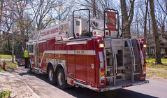 Truck 221 left rear - Cleveland Heights Fire Department (Tim Evanson) Tags: hydrant firetruck firedepartment laddertruck clevelandheightsohio clevelandheightsfiredepartment