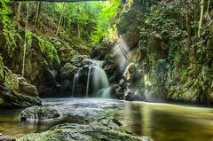untitled-6 (christopherbarran) Tags: longexposure light mist forest river waterfall rainforest rocks trinidad tropical rays lightrays balandra