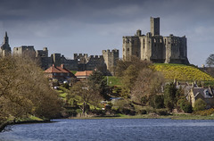 Warkworth Castle, Northumberland (DM Allan) Tags: castle river medieval northumberland warkworth coquet