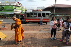 Phimai (g e r a r d v o n k ) Tags: street city travel windows people urban orange colour bus green art canon asian thailand eos fantastic asia photos outdoor expression buddha ngc transport monk thai vehicle unlimited stad uit yabbadabbadoo asia flickraward newacademy earthasia totallythailand pinnaclephotography artcityart