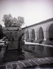 San Miguel Mission, San Miguel, CA (bcgreeneiv) Tags: california blackandwhite bw film miguel san plastic mission debonair filmtastic