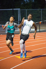 Dami in the 200m (Malcolm Slaney) Tags: track paloalto ccs 200m trackandfield top8 2016 paly