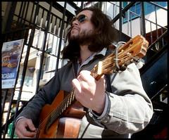 market busker (D G H) Tags: seattle street downtown guitar sidewalk pikeplacemarket busker pikeplacepublicmarket daveheston