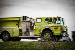 Pumper 60 (HTT) (13skies) Tags: old green water truck vintage big sitting firetruck nostalgic strong firemen fires thursday hdr pumper