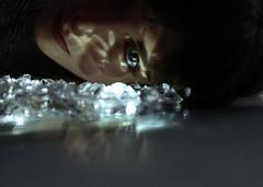 Ice (ElisaPaciPhotography) Tags: light portrait woman selfportrait art beautiful beauty fashion diamonds canon model eyes artist shadows emotion modeling fineart concept conceptual ritratto luce elegance
