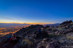 Sunrise with friends (ihikesandiego) Tags: cactus skyline clouds sunrise palm trail springs dayhike hardest