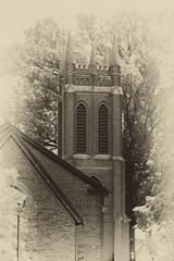 Chrurch Bell Tower Across From Old English Cemetery - Salisbury, NC (No Talent Bum) Tags: cemeteries nikon salisbury chimes belltowers salisburync bellchimes oldenglishcemetery nikonafs55300mmf4556gedvr nikond5300