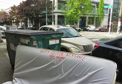 """Hott Queer Action!"" (sea turtle) Tags: seattle pine dumpster graffiti garbage saturday neighborhood pinestreet 12thavenue queer 12th hott mattress capitolhill hottqueeraction"