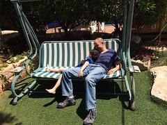 Yoav and Dan resting (Dan_lazar) Tags: trip family dan israel zimmer galilee mount   noa yoav passover     miron   sigal   lazar