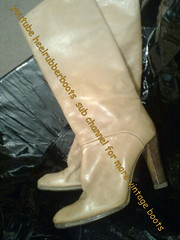 pull on high boots (heelrubberboots) Tags: sexy leather vintage high boots heels stiefel