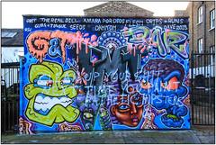 East End Street Art (Mabacam) Tags: streetart london wall flesh dave graffiti stencil mural wallart seeds urbanart shoreditch freehand publicart aerosolart obit spraycanart stencilling eastend bsg 2015 urbanwall therealdill amarapordios dahkoh dripsruns gumstongues