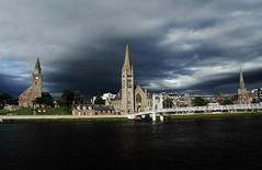 Inverness (sonofwalrus) Tags: uk bridge slr water clouds canon river scotland churches steeples inverness riverness freechurchofscotland oldhighchurch eos7d griegstbridge