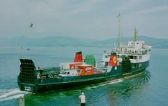 MV SATURN leaving Rothesay, 1984 copy (Hugh Spicer / UIsdean Spicer) Tags: calmac wemyssbay firthofclyde caledonianmacbrayne clydesteamer