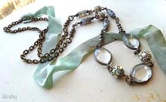 Crystal & labradorite necklace (lilruby) Tags: labradorite beadednecklace vintagebeads lilrubyhandcraftedjewelry facetedglasscrystals