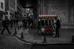 Busy street... (Syahrel Azha Hashim) Tags: street travel light vacation holiday detail 35mm turkey prime colorful dof getaway sony streetphotography naturallight stall istanbul handheld shallow humaninterest spicebazaar eminonu a7ii selectivecoloring sonya7 syahrel ilce7m2