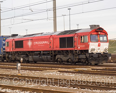 Crossrail Locomotive, Port of Zeebrugge, Belgium (jag9889) Tags: city red train europe belgium belgique outdoor brugge belgi transportation be bruges locomotive bel freight brujas railroadtracks belgien westflanders zeebrugge 2016 brgge railraod lissewege seebrgge jag9889 20160118