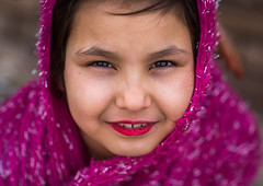 afghan refugee girl with lipstick, Central County, Kerman, Iran (Eric Lafforgue) Tags: pink boy portrait people afghanistan cold girl childhood horizontal closeup youth outdoors photography kid war asia day child iran refugee muslim young middleeast makeup persia social headshot afghan conflict lipstick kerman immigrant humanitarian oneperson middleeastern frontview clandestine migrant displaced afghani socialissues lookingatcamera  humanitarianism  1people  iro onegirlonly onlychildren  centralcounty colourpicture  afghaniculture iran034i3501